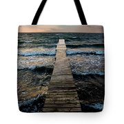 A Pier In The Water Tote Bag