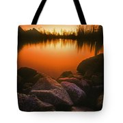 A Pond At Sunset, British Columbia Tote Bag