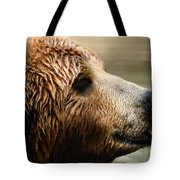 A Portrait Of A Captive Kodiak Brown Tote Bag