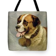 A Portrait Of A St. Bernard Tote Bag