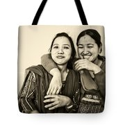 A Portrait Of Good Friends Tote Bag