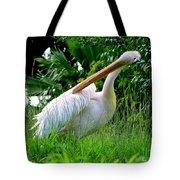 A Preening Stork Tote Bag