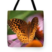 A Pretty Flying Flower Tote Bag