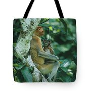 A Proboscis Monkey Tote Bag