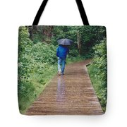 A Rainey Day In Alaska Tote Bag