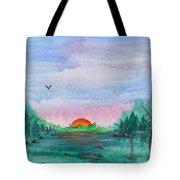 A Rainy Misty Sunrise Tote Bag