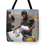 A Rebel Collects His Food Ration Tote Bag