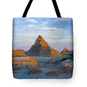 A Red Sunrise Illuminates The Hills In Tote Bag