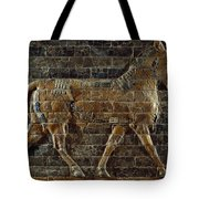 A Relief Depicts A Bull Tote Bag