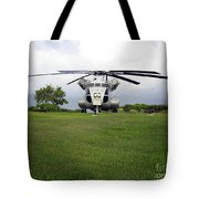A Rh-53d Sea Stallion Helicopter Tote Bag by Michael Wood