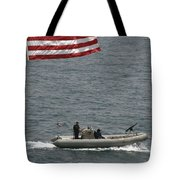 A Rigid Hull Inflatable Boat Tote Bag