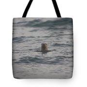A River Otter Sticks His Head Tote Bag