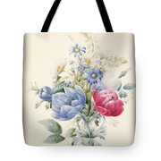 A Rose Anemone Mignonette And Daisies Tote Bag