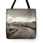 A Rural Path In Auvergne. France Tote Bag