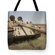 A Russian T-55 Main Battle Tank Tote Bag