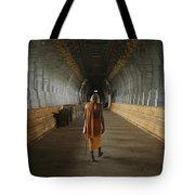 A Sadu Walks Through Rameswaram Temples Tote Bag