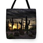 A Saguaro Sunrise  Tote Bag