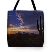A Saguaro Sunset  Tote Bag