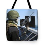 A Sailor Manning A .50-caliber Machine Tote Bag