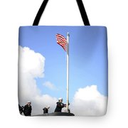 A Sailor Raises The First Navy Jack Tote Bag