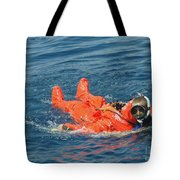 A Sailor Rescued By A Diver Tote Bag