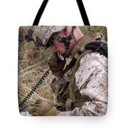 A Satellite Communications Specialist Tote Bag by Stocktrek Images