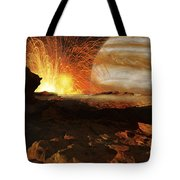 A Scene On Jupiters Moon, Io, The Most Tote Bag