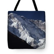 A Scenic View Of A Steep Icy Tote Bag