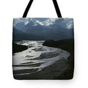 A Scenic View Of The Matanuska River Tote Bag