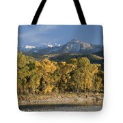 A Scenic View Of The Yellowstone River Tote Bag