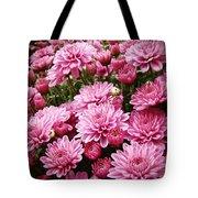A Sea Of Pink Chrysanthemums Tote Bag