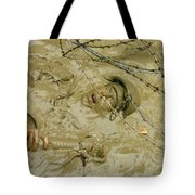 A Seabee Emerges From Muddy Water Tote Bag by Stocktrek Images