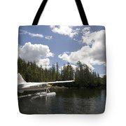 A Seaplane Taking Off From Vancouver Tote Bag