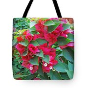 A Section Of Pink Bougainvillea Flowers Tote Bag