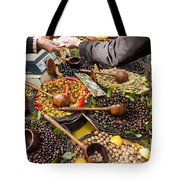 A Selection Of Olives Sit Tote Bag