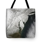 A Severe Winter Storm Along The United Tote Bag