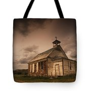 A Simple Wooden Church Tote Bag