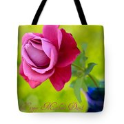 A Single Rose II Mother's Day Card Tote Bag
