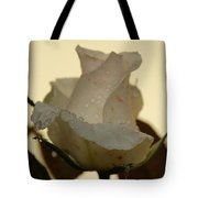A Single White Rose Tote Bag