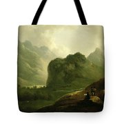A Sketching Party In The Pass At Borrowdale Tote Bag