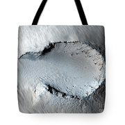 A Small Cone On The Side Of One Of Mars Tote Bag