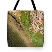 A Small Town On The Northern Shore Tote Bag