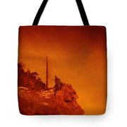 A Snag On A Cliff Tote Bag