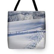 A Snowy Field Tote Bag