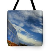 A Solar Panel In The Desert Of South Tote Bag