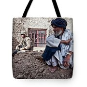 A Soldier Collects Information Tote Bag