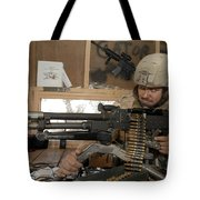 A Soldier Conducts An Observation Tote Bag