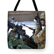 A Soldier Keeps A Close Watch Tote Bag