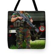 A Soldier Of An Infantry Unit Tote Bag
