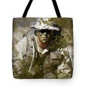 A Soldier Practices Evasion Maneuvers Tote Bag